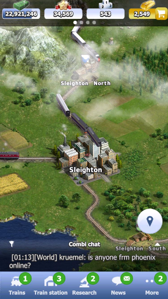 Rail Nation will be optimized for smart phones and tablets